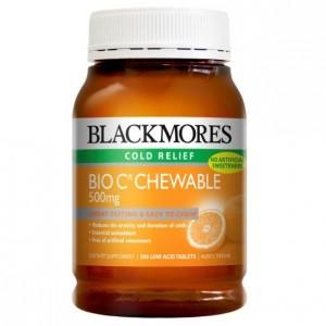 Blackmores Bio C 500 Chewable 200 Caps