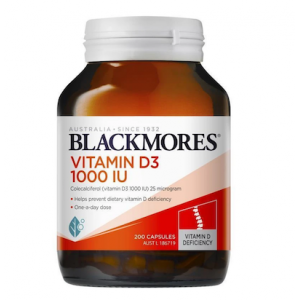 Blackmores Vitamin D3 1000IU 200 Caps