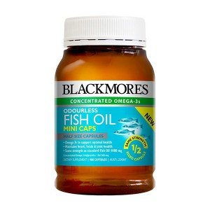Blackmores Fish Oil Mini Caps Odourless 400 Caps