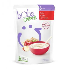 Bubs Organic Baby Apple Porridge 6 months+ 125g