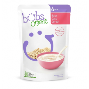 Bubs Organic Baby Oats Cereal 4 Months+ 125g