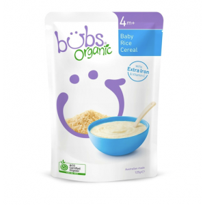 Bubs Organic Baby Rice Cereal 4 months+ 125g