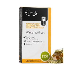 comvita Manuka Honey Lozenges - Olive Leaf Extract 12 Caps