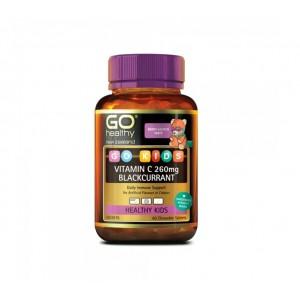 Go Healthy Vitamin C 260mg Blackcurrant 60 Caps