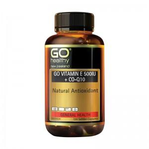 Go healthy Go vitamin E 500IU + CO-Q10 130 Caps