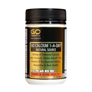 Go healthy Go Calcium 1-A-Day 120 Caps