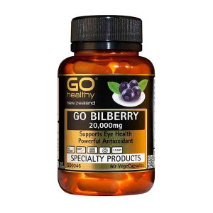 Go healthy Go Bilberry 20,000mg 60 Caps