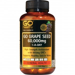 Go healthy GO Grape Seed 60,000mg 120 Caps