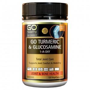 GO Healthy Go Turmeric & Glucosamine 1-A-Day 120 Caps