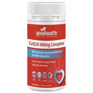 Good Health CoQ10 400mg Complex 60 Capsules