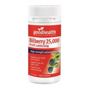 Goodhealth Bilberry 25000mg Plus Lutein 6mg 60 Capsules