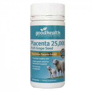 goodhealth Placenta 25,000 Plus Grape Seed 60 Caps