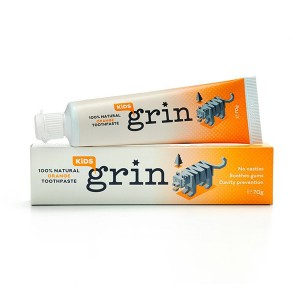 Grin 新西兰本土 牙医推荐 100%纯天然 儿童牙膏 橙子味 70g