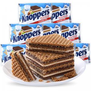 Knoppers榛子巧克力五层威化饼25g 三联包 好吃到停不下来
