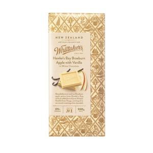 Whittakers 惠特克 28%可可 霍克斯湾苹果香草巧克力 100克