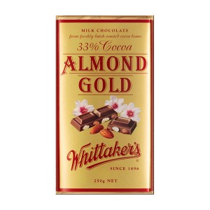 Whittakers 惠特克 33%可可 金装烤杏仁巧克力 250克