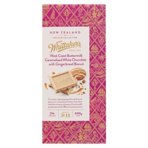 Whittakers 惠特克 28%可可 西海岸奶酪 姜饼干 焦糖白巧克力 100克
