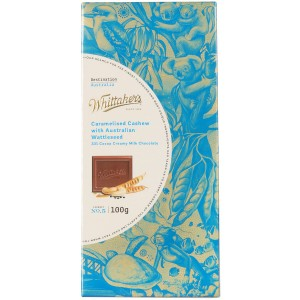 Whittakers 惠特克 33%可可 焦糖腰果 澳洲金合欢籽牛奶巧克力 100克