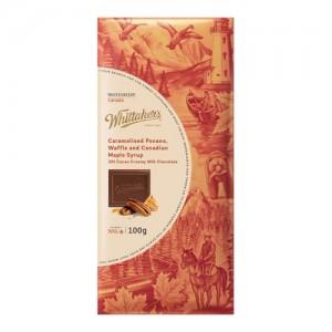 Whittakers 惠特克 33%可可 焦糖核桃 华夫饼 加拿大枫叶糖浆牛奶巧克力100克