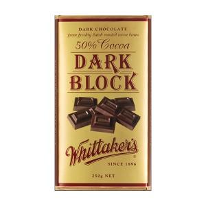 Whittakers Chocolate Block 50% Cocoa Dark 250g