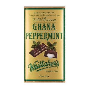 Whittakers Chocolate Block 72% Cocoa Peppermint 250g